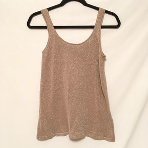 The Limited, Gold Tank Top, Size SMALL